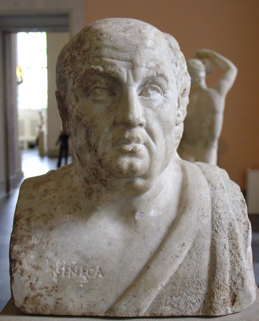 SENECA THE YOUNGER, SENECA LUCIUS ANNAEUS, SENECA THE YOUNGER BUST
